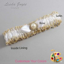 Customizable Wedding Garter / Vickie #04-B41-M21-Gold