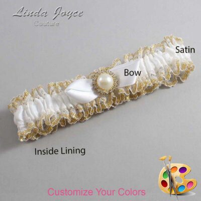 Couture Garters / Custom Wedding Garter / Customizable Wedding Garters / Personalized Wedding Garters / Vickie #04-B41-M21 / Wedding Garters / Bridal Garter / Prom Garter / Linda Joyce Couture