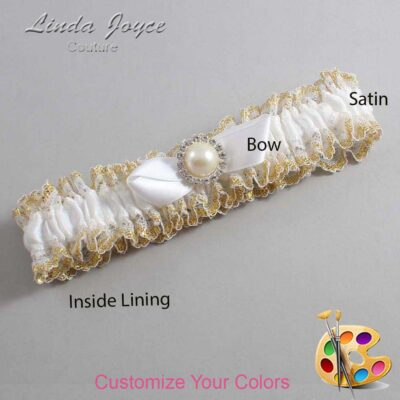 Couture Garters / Custom Wedding Garter / Customizable Wedding Garters / Personalized Wedding Garters / Vickie #04-B41-M22 / Wedding Garters / Bridal Garter / Prom Garter / Linda Joyce Couture