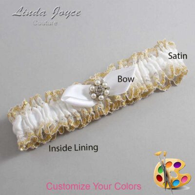 Couture Garters / Custom Wedding Garter / Customizable Wedding Garters / Personalized Wedding Garters / Virginia #04-B41-M23 / Wedding Garters / Bridal Garter / Prom Garter / Linda Joyce Couture