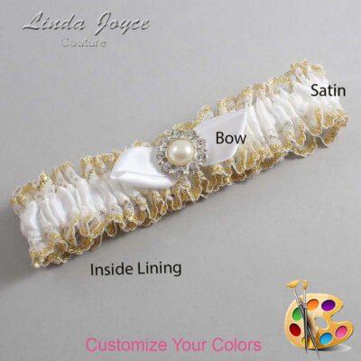 Customizable Wedding Garter / Tera #04-B41-M24-Silver