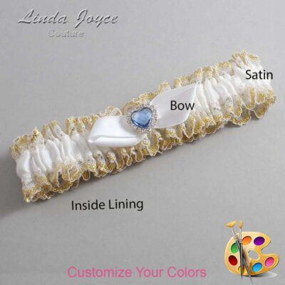 Couture Garters / Custom Wedding Garter / Customizable Wedding Garters / Personalized Wedding Garters / Tess #04-B41-M25 / Wedding Garters / Bridal Garter / Prom Garter / Linda Joyce Couture