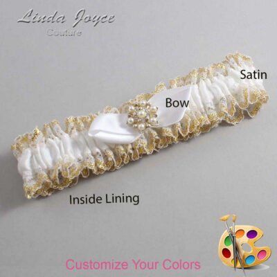 Couture Garters / Custom Wedding Garter / Customizable Wedding Garters / Personalized Wedding Garters / Susan #04-B41-M27 / Wedding Garters / Bridal Garter / Prom Garter / Linda Joyce Couture