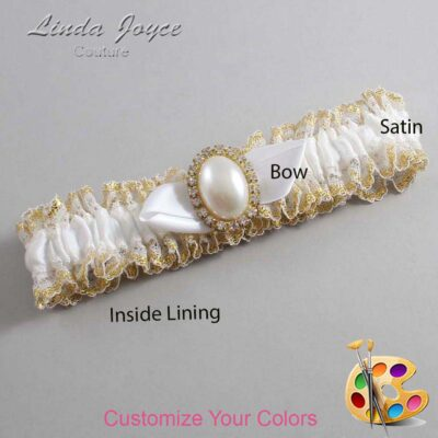 Couture Garters / Custom Wedding Garter / Customizable Wedding Garters / Personalized Wedding Garters / Sonya #04-B41-M29 / Wedding Garters / Bridal Garter / Prom Garter / Linda Joyce Couture