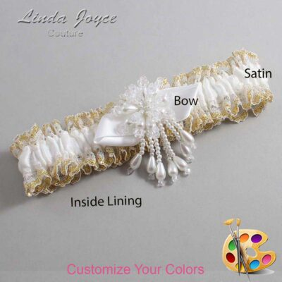Couture Garters / Custom Wedding Garter / Customizable Wedding Garters / Personalized Wedding Garters / Tammy #04-B41-M38 / Wedding Garters / Bridal Garter / Prom Garter / Linda Joyce Couture