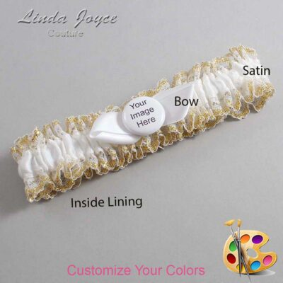 Couture Garters / Custom Wedding Garter / Customizable Wedding Garters / Personalized Wedding Garters / Custom Button #04-B41-M44 / Wedding Garters / Bridal Garter / Prom Garter / Linda Joyce Couture