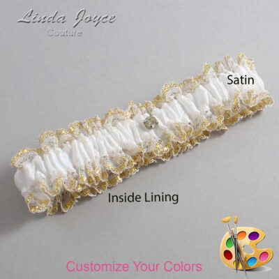 Couture Garters / Custom Wedding Garter / Customizable Wedding Garters / Personalized Wedding Garters / Solitaire #04-M03 / Wedding Garters / Bridal Garter / Prom Garter / Linda Joyce Couture