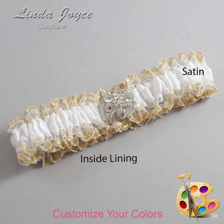 Couture Garters / Custom Wedding Garter / Customizable Wedding Garters / Personalized Wedding Garters / Belle #04-M11 / Wedding Garters / Bridal Garter / Prom Garter / Linda Joyce Couture