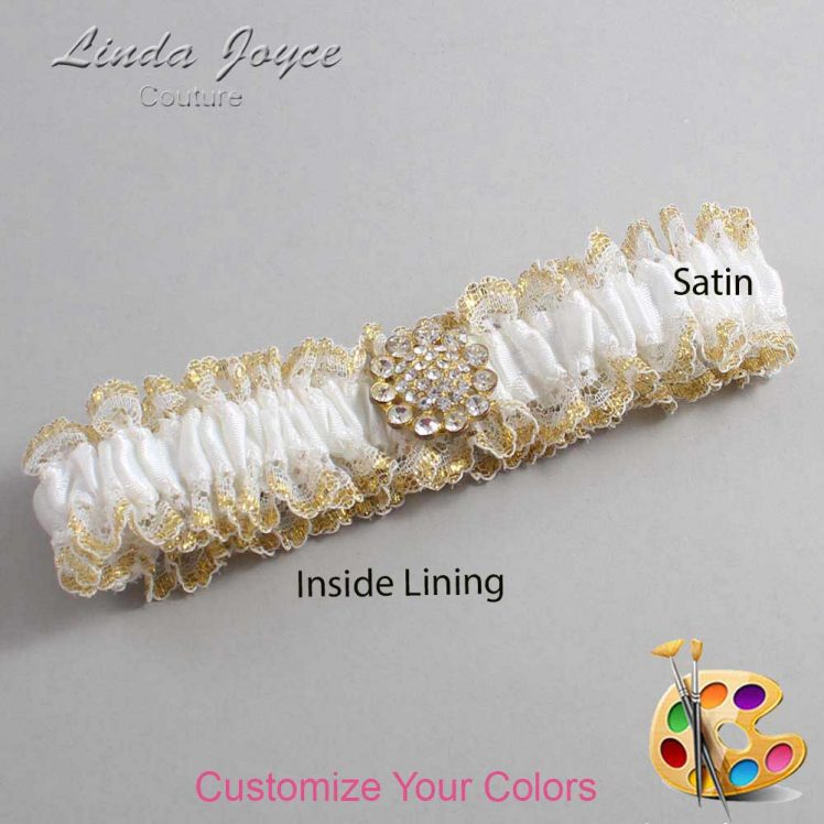 Couture Garters / Custom Wedding Garter / Customizable Wedding Garters / Personalized Wedding Garters / Lynnette #04-M12 / Wedding Garters / Bridal Garter / Prom Garter / Linda Joyce Couture