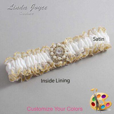 Couture Garters / Custom Wedding Garter / Customizable Wedding Garters / Personalized Wedding Garters / Phyllis #04-M14 / Wedding Garters / Bridal Garter / Prom Garter / Linda Joyce Couture