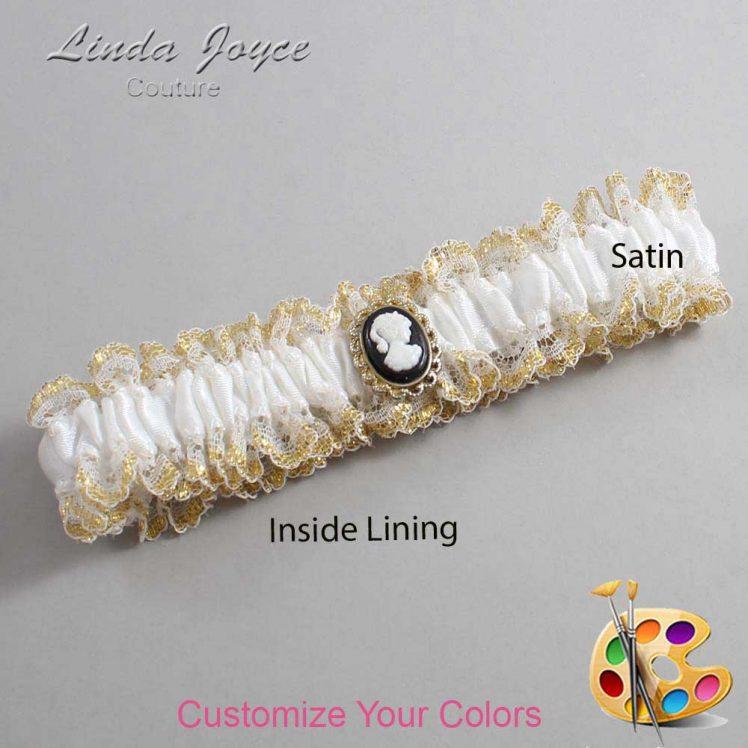 Couture Garters / Custom Wedding Garter / Customizable Wedding Garters / Personalized Wedding Garters / Cally #04-M15 / Wedding Garters / Bridal Garter / Prom Garter / Linda Joyce Couture