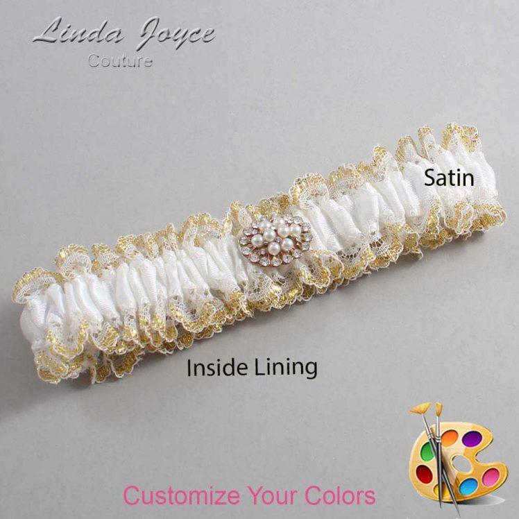 Couture Garters / Custom Wedding Garter / Customizable Wedding Garters / Personalized Wedding Garters / Fay #04-M16 / Wedding Garters / Bridal Garter / Prom Garter / Linda Joyce Couture