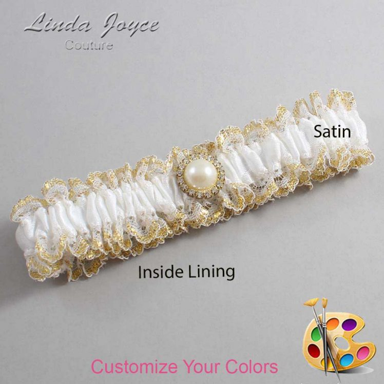 Couture Garters / Custom Wedding Garter / Customizable Wedding Garters / Personalized Wedding Garters / Dana #04-M21 / Wedding Garters / Bridal Garter / Prom Garter / Linda Joyce Couture