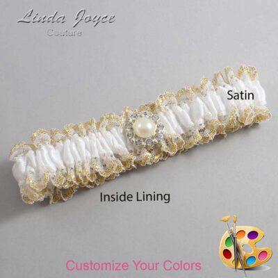 Couture Garters / Custom Wedding Garter / Customizable Wedding Garters / Personalized Wedding Garters / Lynn #04-M24 / Wedding Garters / Bridal Garter / Prom Garter / Linda Joyce Couture