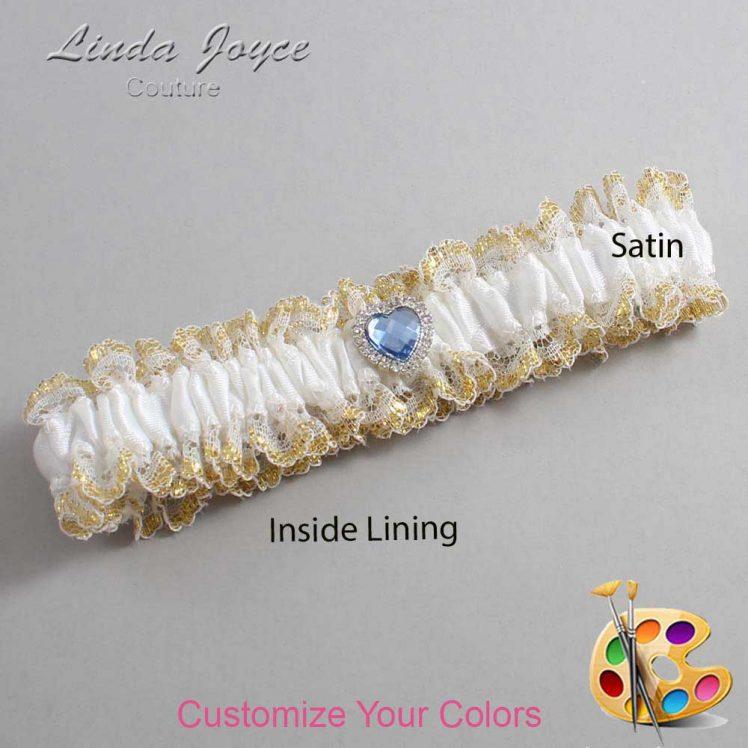 Couture Garters / Custom Wedding Garter / Customizable Wedding Garters / Personalized Wedding Garters / Lovie #04-M25 / Wedding Garters / Bridal Garter / Prom Garter / Linda Joyce Couture