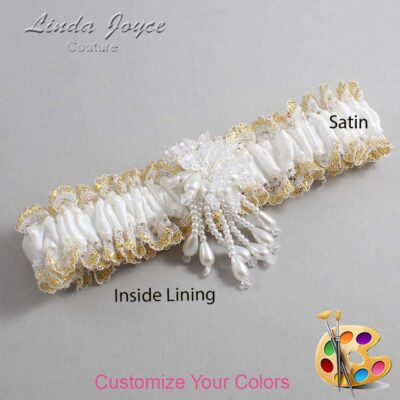 Couture Garters / Custom Wedding Garter / Customizable Wedding Garters / Personalized Wedding Garters / Folly #04-M38 / Wedding Garters / Bridal Garter / Prom Garter / Linda Joyce Couture