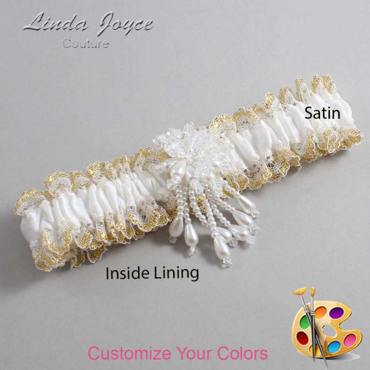Couture Garters / Custom Wedding Garter / Customizable Wedding Garters / Personalized Wedding Garters / Folly #04-M38 / Wedding Garters / Bridal Garter / Prom Garter / Linda Joyce Couture