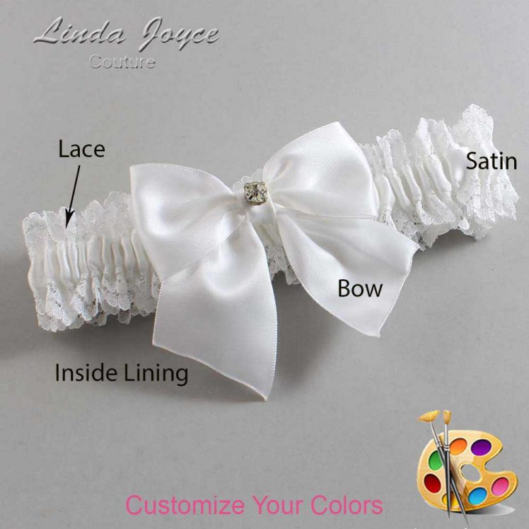 Couture Garters / Custom Wedding Garter / Customizable Wedding Garters / Personalized Wedding Garters / Pamela #06-B01-M03 / Wedding Garters / Bridal Garter / Prom Garter / Linda Joyce Couture