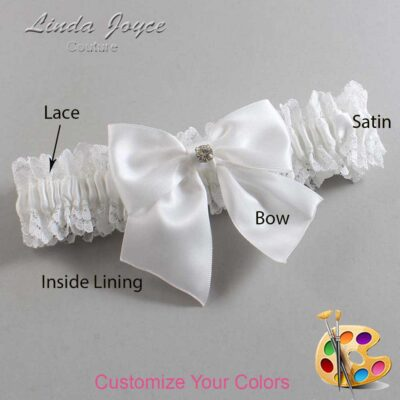 Couture Garters / Custom Wedding Garter / Customizable Wedding Garters / Personalized Wedding Garters / Pamela #06-B01-M04 / Wedding Garters / Bridal Garter / Prom Garter / Linda Joyce Couture