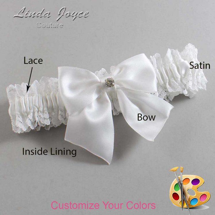 Couture Garters / Custom Wedding Garter / Customizable Wedding Garters / Personalized Wedding Garters / Pamela #06-B01-M04 / Wedding Garters / Bridal Garter / Prom Garter / Linda Joyce Couture