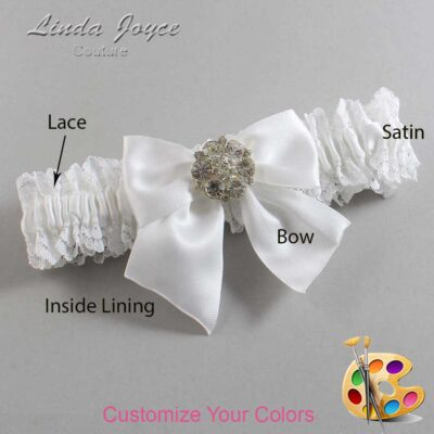 Couture Garters / Custom Wedding Garter / Customizable Wedding Garters / Personalized Wedding Garters / Elizabeth #06-B01-M11 / Wedding Garters / Bridal Garter / Prom Garter / Linda Joyce Couture