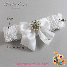 Customizable Wedding Garter / Adelle #06-B01-M14-Silver