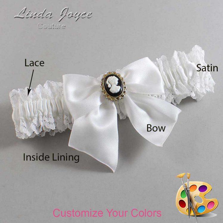 Couture Garters / Custom Wedding Garter / Customizable Wedding Garters / Personalized Wedding Garters / Amy #06-B01-M15 / Wedding Garters / Bridal Garter / Prom Garter / Linda Joyce Couture