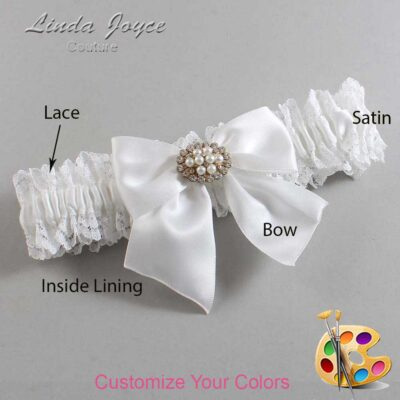 Customizable Wedding Garter / Cynthia #06-B01-M16-Gold