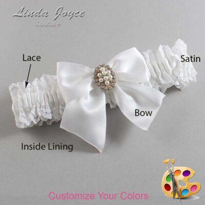 Couture Garters / Custom Wedding Garter / Customizable Wedding Garters / Personalized Wedding Garters / Annie #06-B01-M17 / Wedding Garters / Bridal Garter / Prom Garter / Linda Joyce Couture