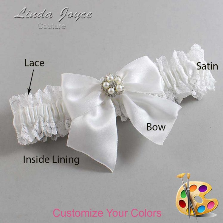 Couture Garters / Custom Wedding Garter / Customizable Wedding Garters / Personalized Wedding Garters / Kourtney #06-B01-M20 / Wedding Garters / Bridal Garter / Prom Garter / Linda Joyce Couture