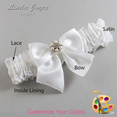 Customizable Wedding Garter / Naomi #06-B01-M23-Silver
