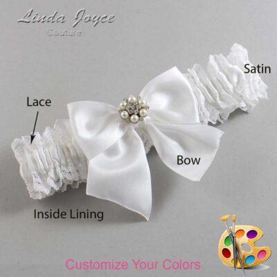Couture Garters / Custom Wedding Garter / Customizable Wedding Garters / Personalized Wedding Garters / Naomi #06-B01-M23 / Wedding Garters / Bridal Garter / Prom Garter / Linda Joyce Couture