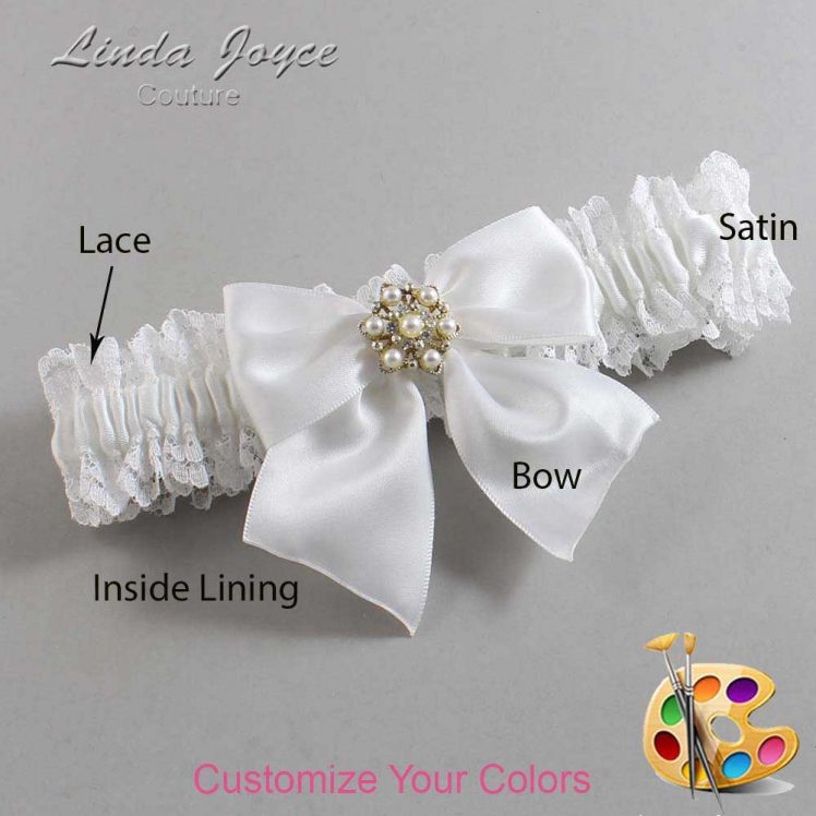 Couture Garters / Custom Wedding Garter / Customizable Wedding Garters / Personalized Wedding Garters / Larissa #06-B01-M27 / Wedding Garters / Bridal Garter / Prom Garter / Linda Joyce Couture