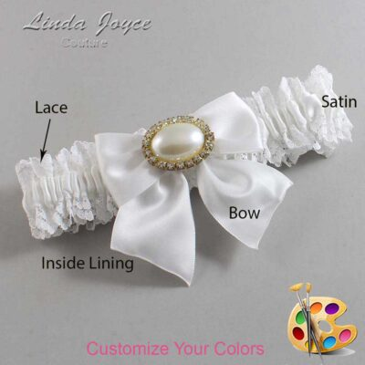 Couture Garters / Custom Wedding Garter / Customizable Wedding Garters / Personalized Wedding Garters / Nicole #06-B01-M28 / Wedding Garters / Bridal Garter / Prom Garter / Linda Joyce Couture