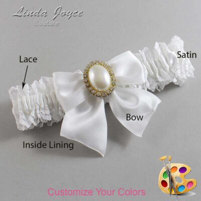Customizable Wedding Garter / Maggie #06-B01-M29-Gold