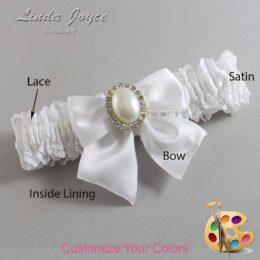Customizable Wedding Garter / Maggie #06-B01-M31-Silver