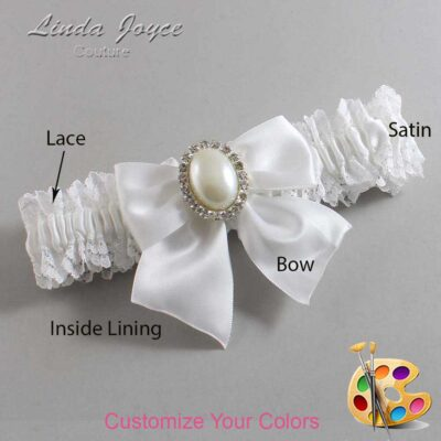 Couture Garters / Custom Wedding Garter / Customizable Wedding Garters / Personalized Wedding Garters / Maggie #06-B01-M31 / Wedding Garters / Bridal Garter / Prom Garter / Linda Joyce Couture