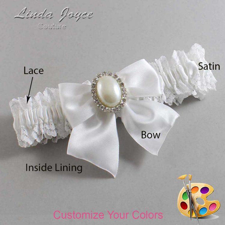 Couture Garters / Custom Wedding Garter / Customizable Wedding Garters / Personalized Wedding Garters / Maggie #06-B01-M31 / Wedding Garters / Bridal Garter / Prom Garter / Linda Joyce Couture