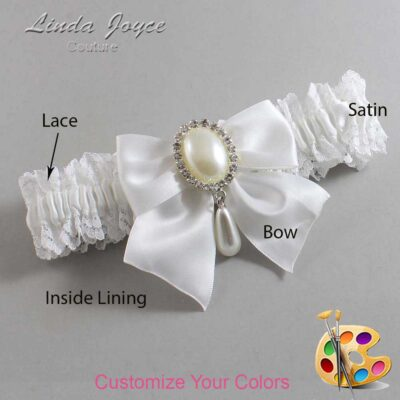 Couture Garters / Custom Wedding Garter / Customizable Wedding Garters / Personalized Wedding Garters / Michaela #06-B01-M35 / Wedding Garters / Bridal Garter / Prom Garter / Linda Joyce Couture
