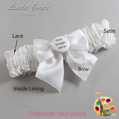 Couture Garters / Custom Wedding Garter / Customizable Wedding Garters / Personalized Wedding Garters / Custom Button #06-B01-M44 / Wedding Garters / Bridal Garter / Prom Garter / Linda Joyce Couture