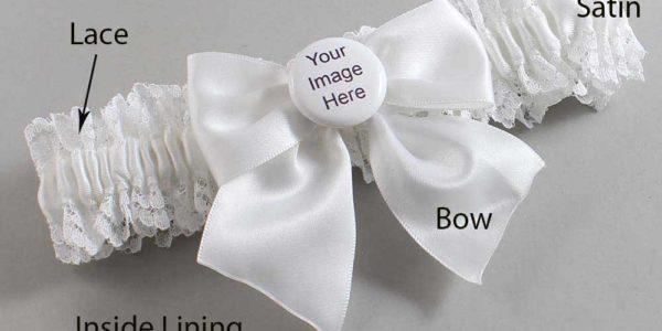 Customizable Wedding Garter / US-Military Custom Button #06-B01-M44
