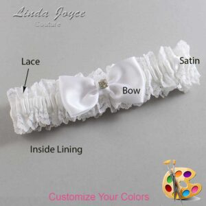 Couture Garters / Custom Wedding Garter / Customizable Wedding Garters / Personalized Wedding Garters / Jodi #06-B29-M03 / Wedding Garters / Bridal Garter / Prom Garter / Linda Joyce Couture