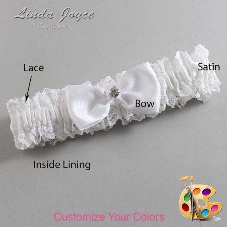 Couture Garters / Custom Wedding Garter / Customizable Wedding Garters / Personalized Wedding Garters / Jodi #06-B29-M04 / Wedding Garters / Bridal Garter / Prom Garter / Linda Joyce Couture