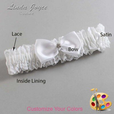 Couture Garters / Custom Wedding Garter / Customizable Wedding Garters / Personalized Wedding Garters / Melody #06-B31-M04 / Wedding Garters / Bridal Garter / Prom Garter / Linda Joyce Couture