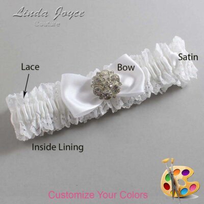 Couture Garters / Custom Wedding Garter / Customizable Wedding Garters / Personalized Wedding Garters / Michelle #06-B31-M11 / Wedding Garters / Bridal Garter / Prom Garter / Linda Joyce Couture