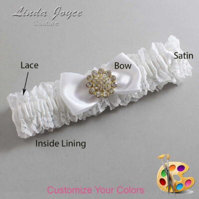 Couture Garters / Custom Wedding Garter / Customizable Wedding Garters / Personalized Wedding Garters / Loretta #06-B31-M12 / Wedding Garters / Bridal Garter / Prom Garter / Linda Joyce Couture