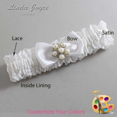 Couture Garters / Custom Wedding Garter / Customizable Wedding Garters / Personalized Wedding Garters / Loriann #06-B31-M13 / Wedding Garters / Bridal Garter / Prom Garter / Linda Joyce Couture
