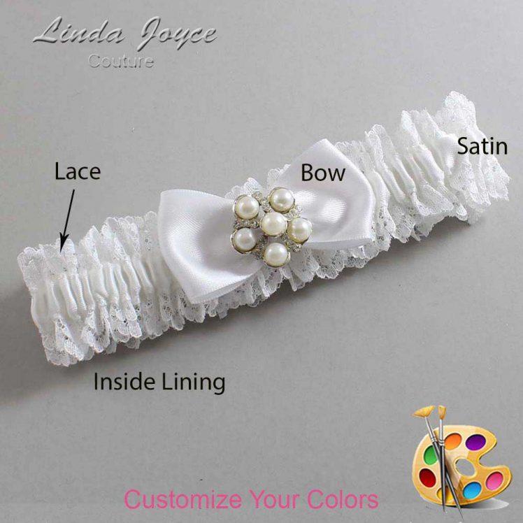 Couture Garters / Custom Wedding Garter / Customizable Wedding Garters / Personalized Wedding Garters / Loriann #06-B31-M13 / Wedding Garters / Bridal Garter / Prom Garter / Linda Joyce Couture