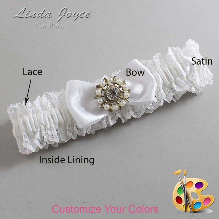 Couture Garters / Custom Wedding Garter / Customizable Wedding Garters / Personalized Wedding Garters / Lollie #06-B31-M14 / Wedding Garters / Bridal Garter / Prom Garter / Linda Joyce Couture