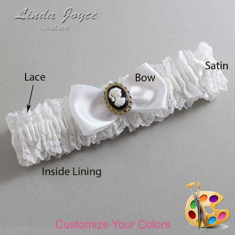 Couture Garters / Custom Wedding Garter / Customizable Wedding Garters / Personalized Wedding Garters / Krista #06-B31-M15 / Wedding Garters / Bridal Garter / Prom Garter / Linda Joyce Couture